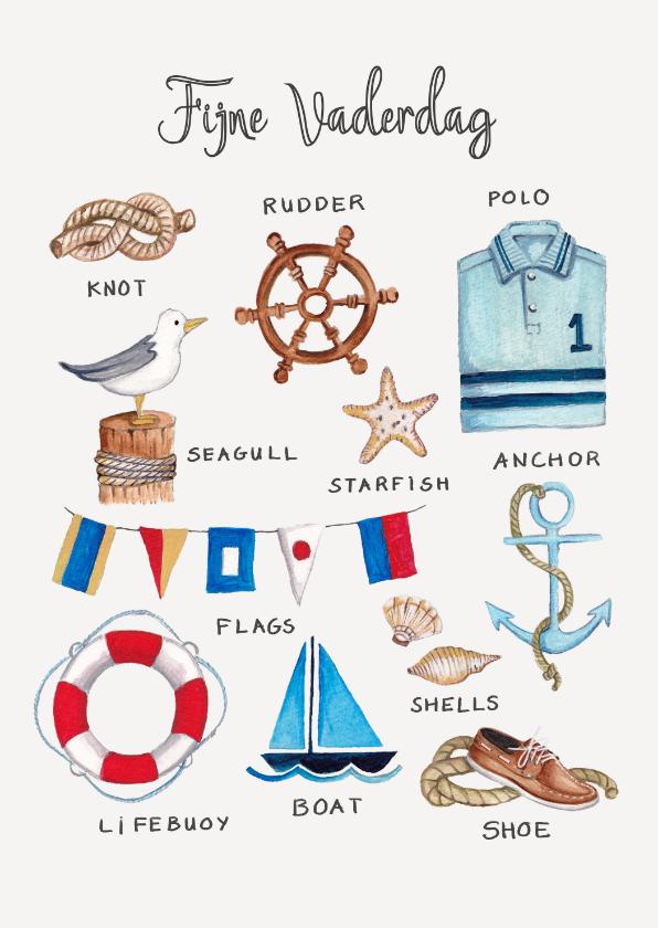 Vaderdag kaarten - Vaderdagskaart voor een zeil en zee liefhebber