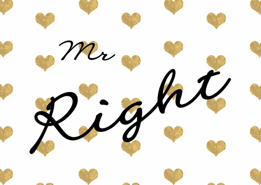 Vaderdag kaarten - Valentijn mr Right