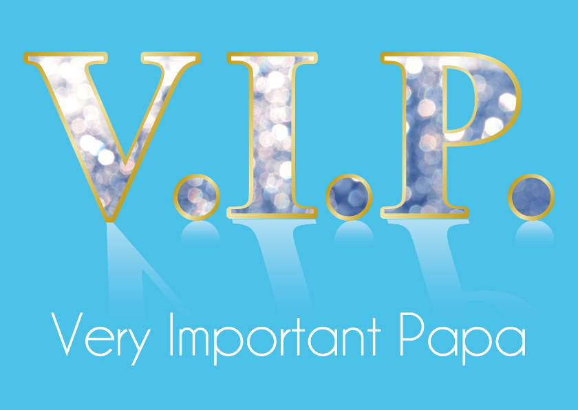 Vaderdag kaarten - VIP Vaderdagkaart