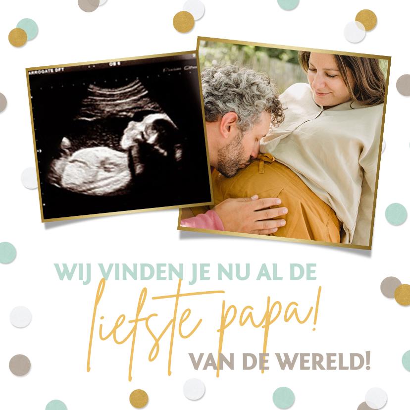 Vaderdag kaarten - Vrolijke vaderdagkaart met foto's voor de aanstaande vader