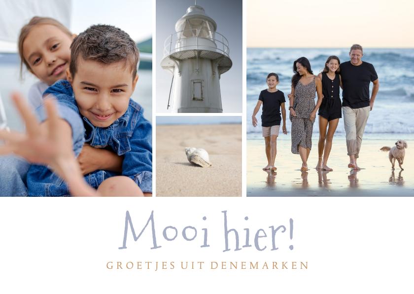 Vakantiekaarten - Ansichtkaart met eigen foto's 'Mooi hier!'
