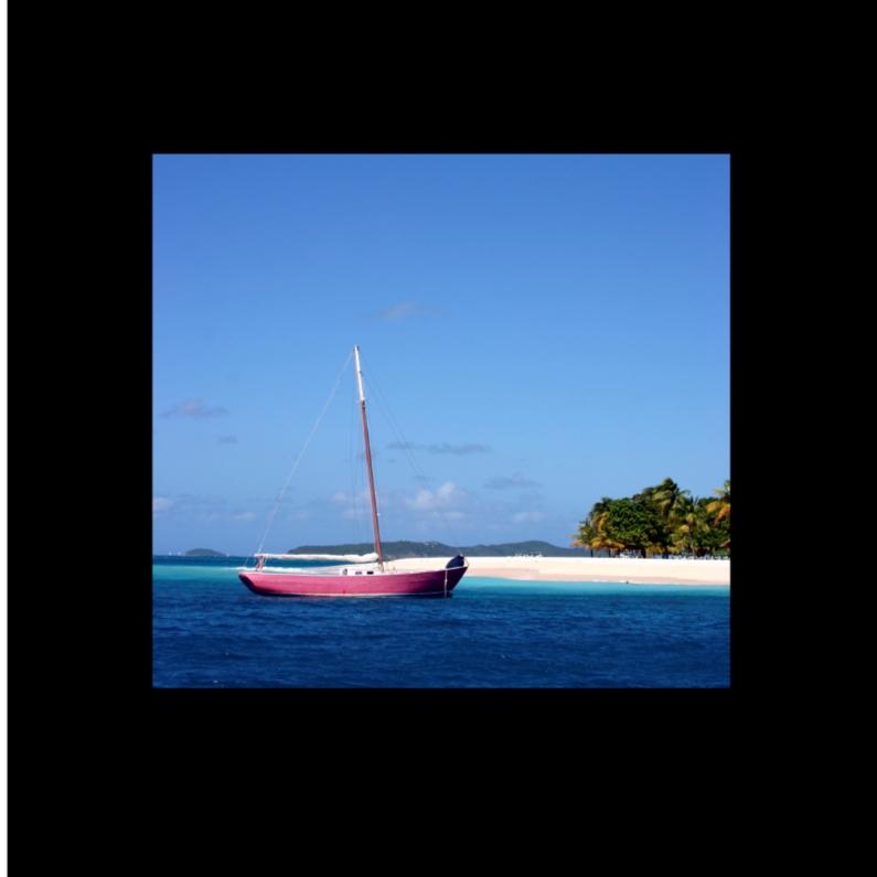 Vakantiekaarten - boot aan strand