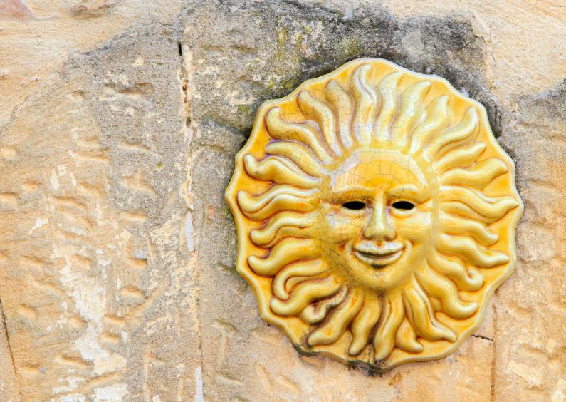 Vakantiekaarten - De zon lacht ...