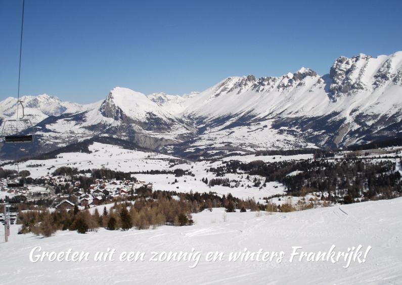 Vakantiekaarten - Een zonnig en winters Frankrijk