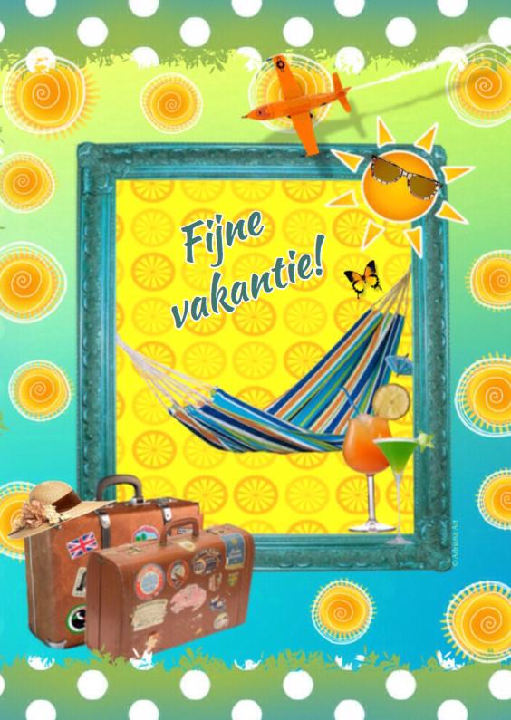 Vakantiekaarten - Fijne vakantie goede reis