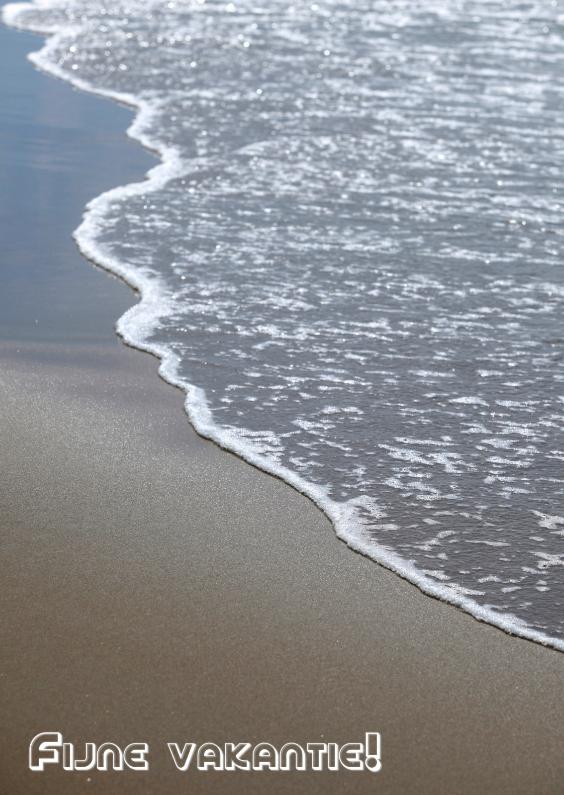 Vakantiekaarten - Fijne Vakantie Zee strand.