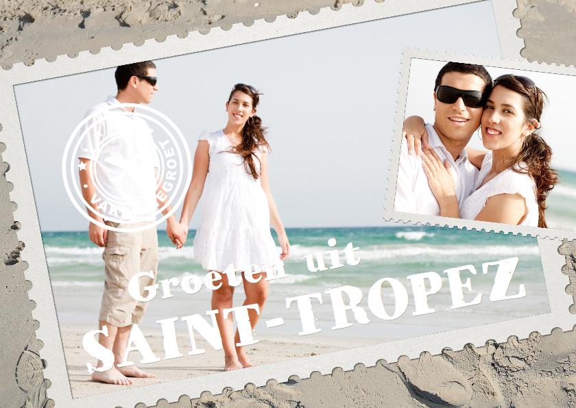 Vakantiekaarten - Fotocollage vakantie Postzegel