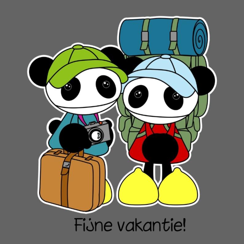 Vakantiekaarten - Goede reis panda´s
