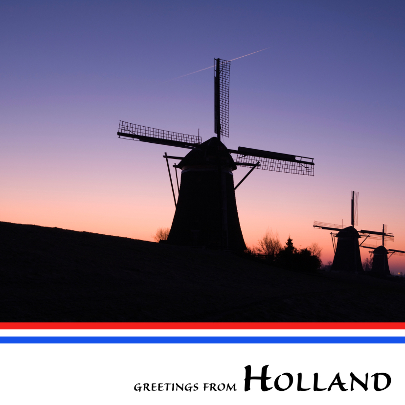 Vakantiekaarten - Greetings from Holland VII