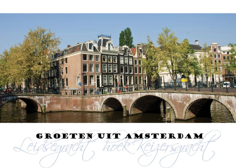 Vakantiekaarten - Groeten uit Amsterdam origineel