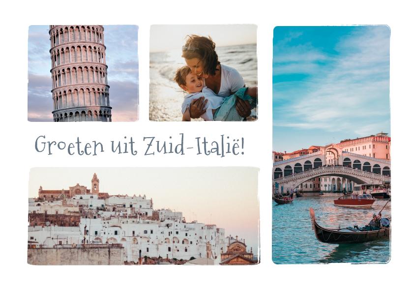 Vakantiekaarten - Groeten uit ... vakantie ansichtkaart met 4 eigen foto's