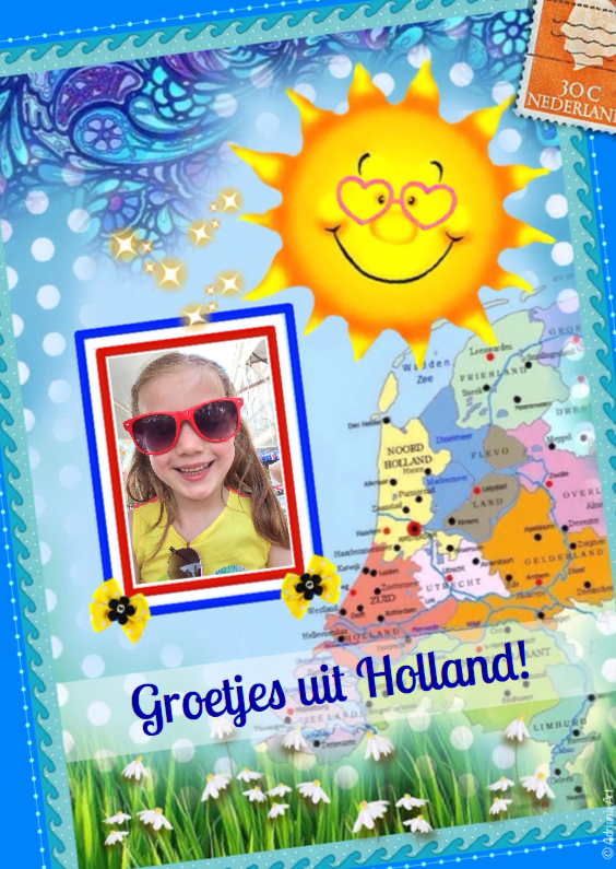 Vakantiekaarten - Groetjes uit Holland mixed media