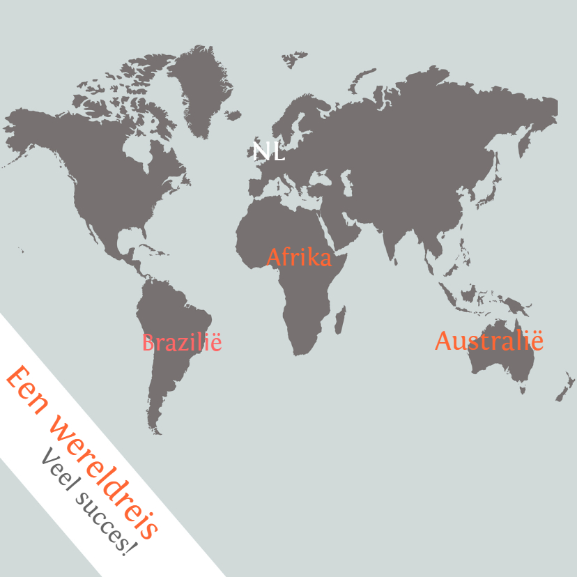 Vakantiekaarten - Kaart Wereldreis