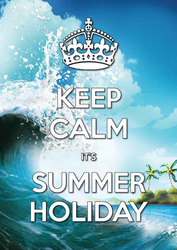 Vakantiekaarten - Keep Calm Summer Holiday golf - SG