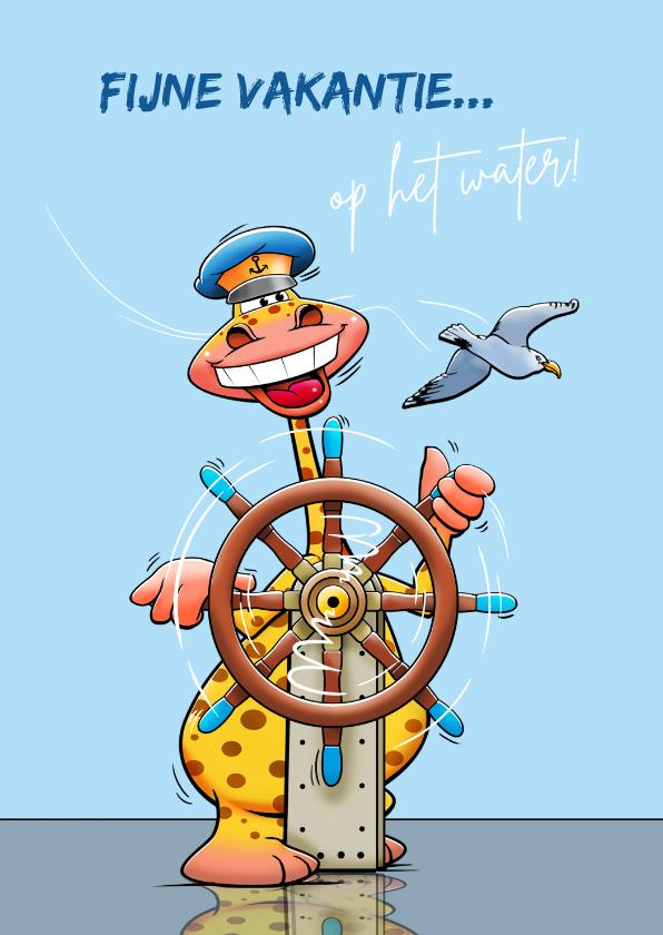 Vakantiekaarten - Leuke vakantiekaart voor schipper op een zeilboot of jacht