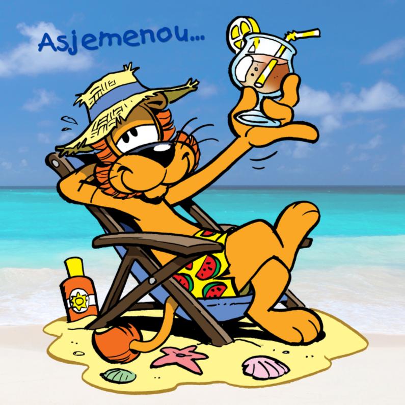 Vakantiekaarten - Loeki de Leeuw strand cocktail