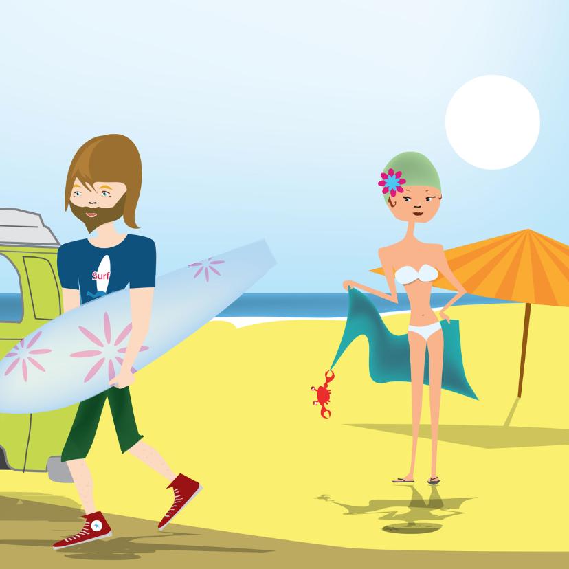 Zomaar kaarten - Take me to the beach