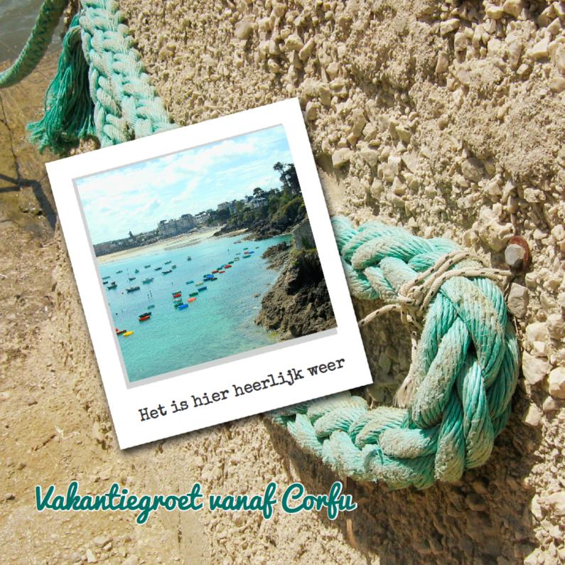Vakantiekaarten - touw aan strand
