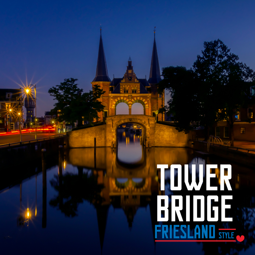 Vakantiekaarten - Tower Bridge Friesland Style