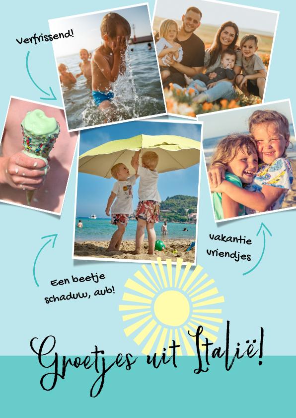 Vakantiekaarten - Vakantie ansichtkaart fotocollage met tekstjes
