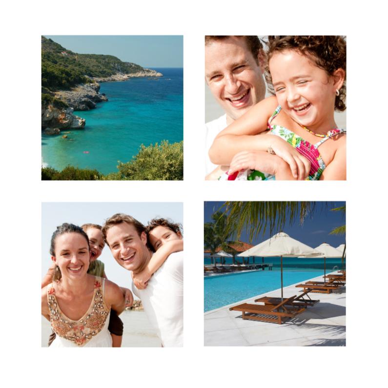Vakantiekaarten - Vakantie Foto Collage - 4 foto's