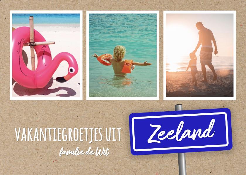 Vakantiekaarten - Vakantie - foto's en plaatsbord