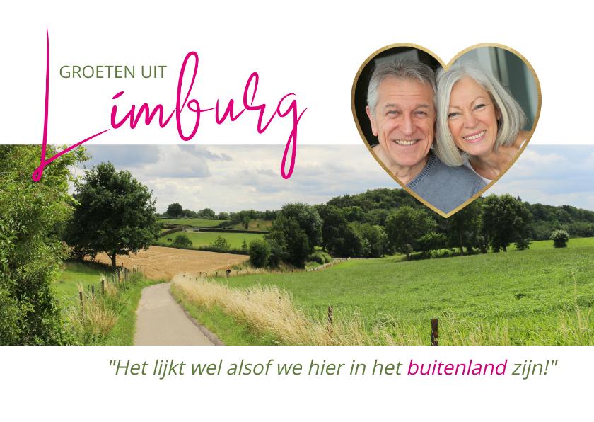 Vakantiekaarten - Vakantie in Limburg, het buitenland van Nederland