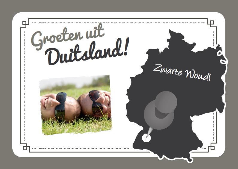 Vakantie Landkaart Duitsland