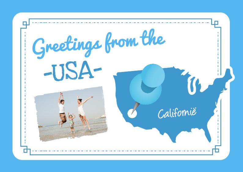 Vakantiekaarten - Vakantie Landkaart USA