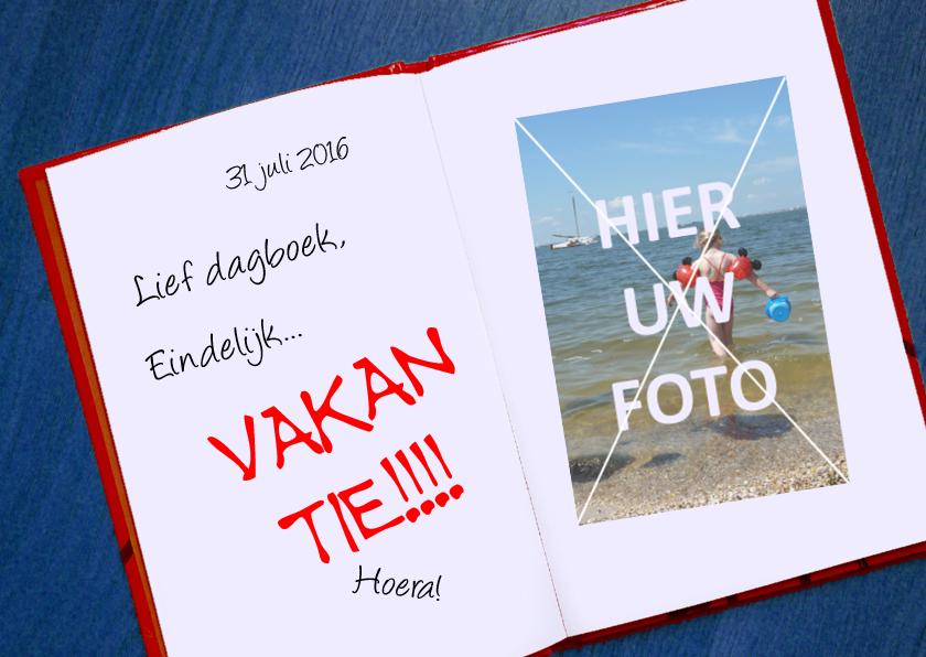 Vakantiekaarten - Vakantie Lief dagboek