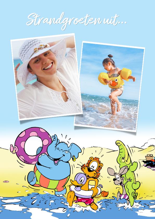 Vakantiekaarten - Vakantie Loeki & friends op het strand - A