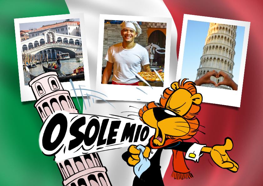 Vakantiekaarten - Vakantie Loeki in Italië vlag - A