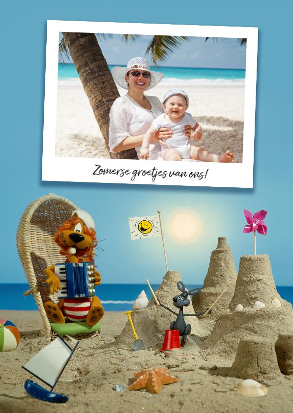Vakantiekaarten - Vakantie Loeki op het strand - A