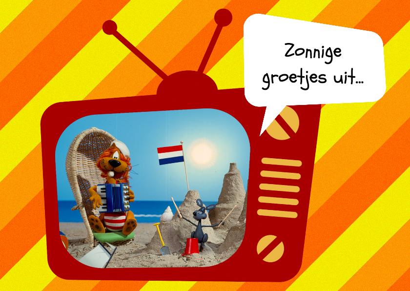 Vakantiekaarten - Vakantie Loeki tv strand -A
