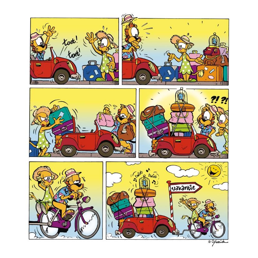 Vakantiekaarten - Vakantie Loeki wagen volgeladen Holland - A