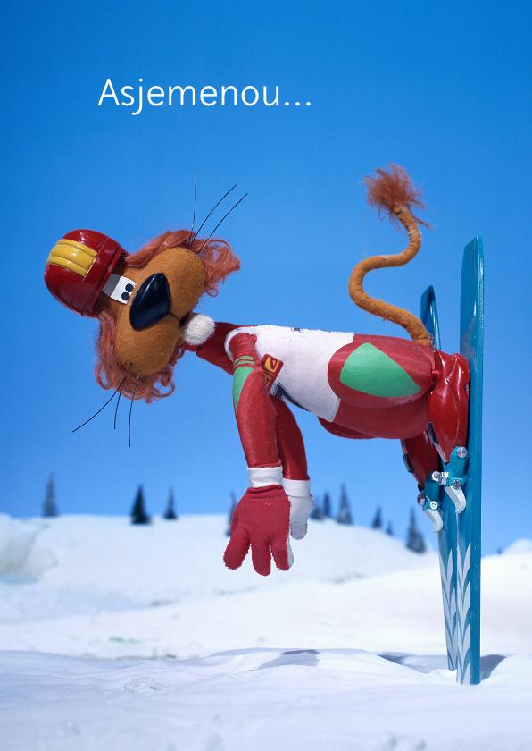 Vakantiekaarten - Vakantie Loeki wintersport ski A