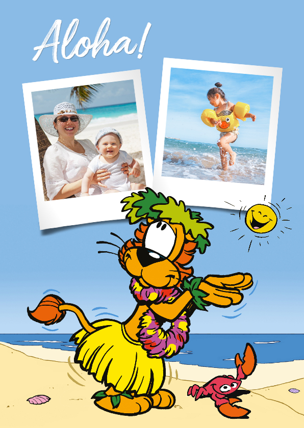 Vakantiekaarten - Vakantie Loeki zegt Aloha - A