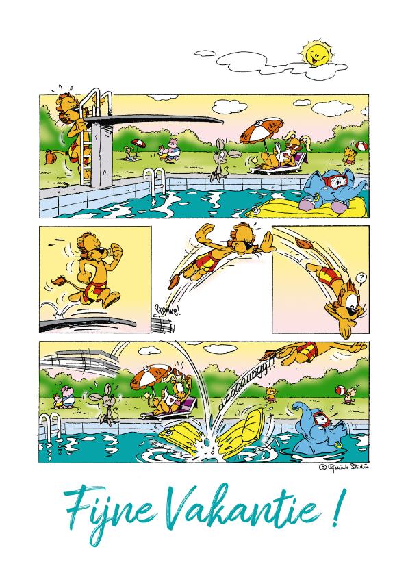 Vakantiekaarten - Vakantie Loeki zwembad