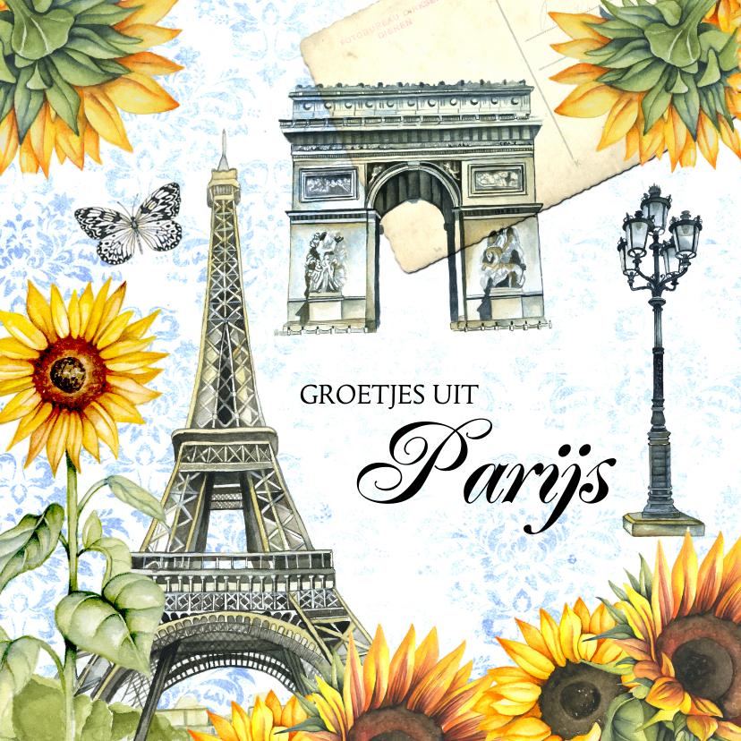 Vakantiekaarten - Vakantie Parijs eifeltoren