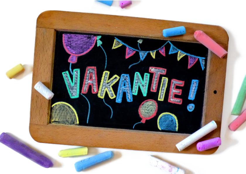 Vakantiekaarten - Vakantie schoolbord