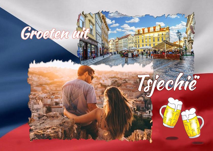 Vakantiekaarten - Vakantie - Vlag Tsjechië