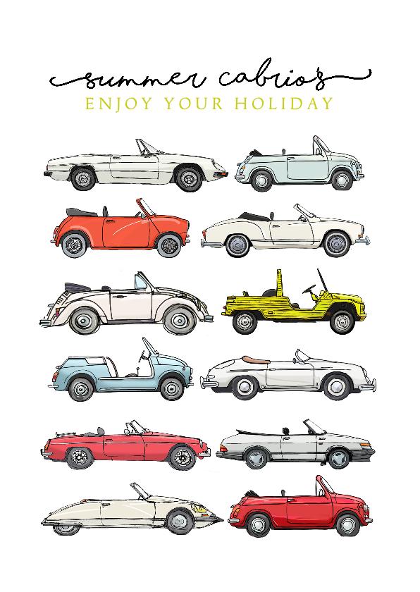 Vakantiekaarten - Vakantiekaart cabrio auto