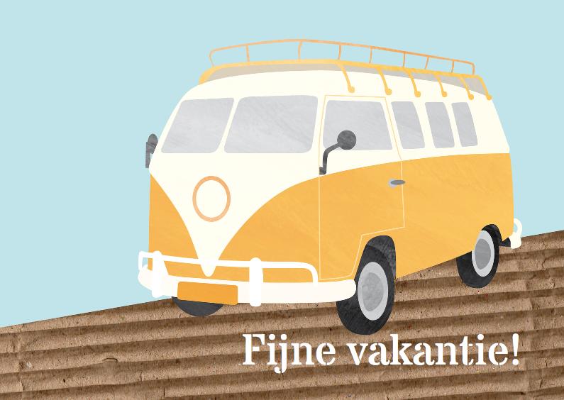 Vakantiekaarten - Vakantiekaart camper busje