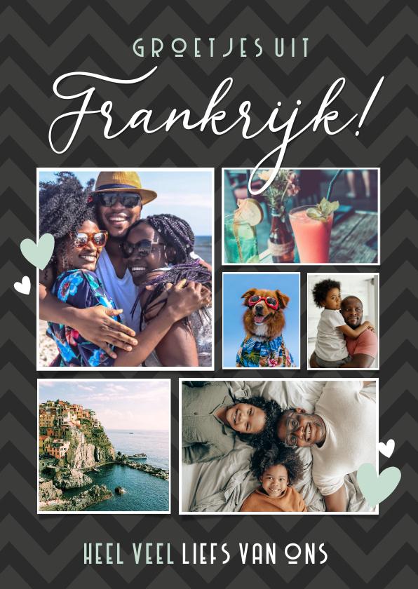 Vakantiekaarten - Vakantiekaart fotocollage groetjes uit met 6 eigen foto