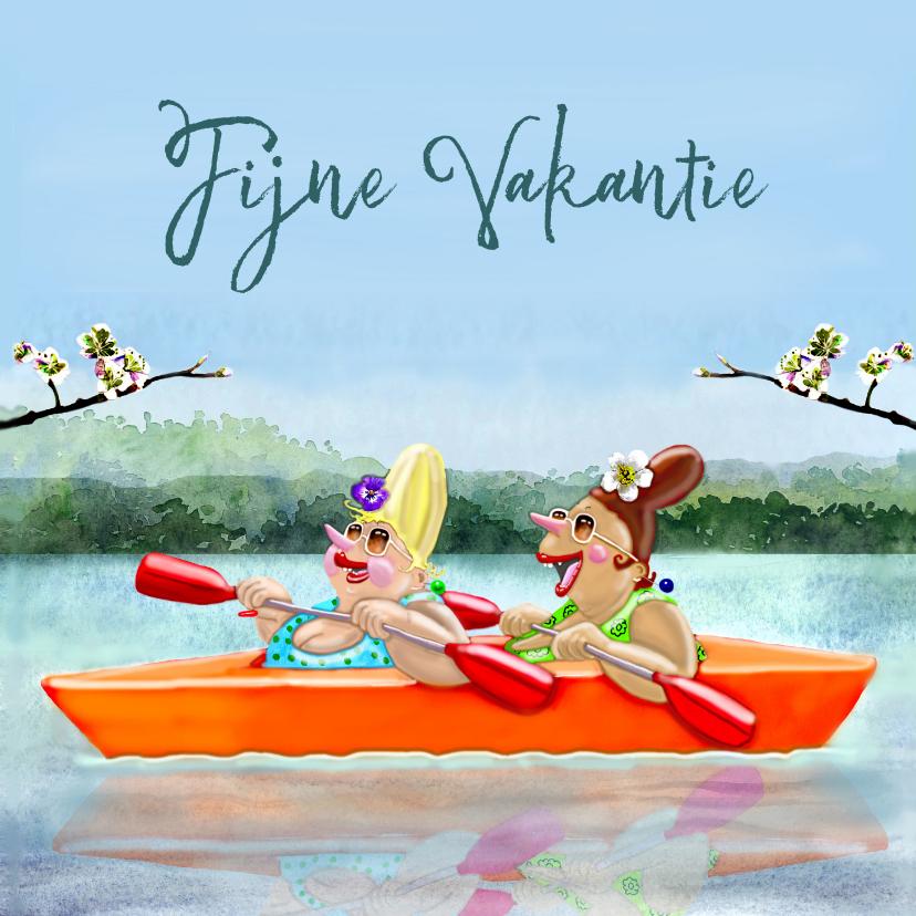 Vakantiekaarten - Vakantiekaart In het bootje
