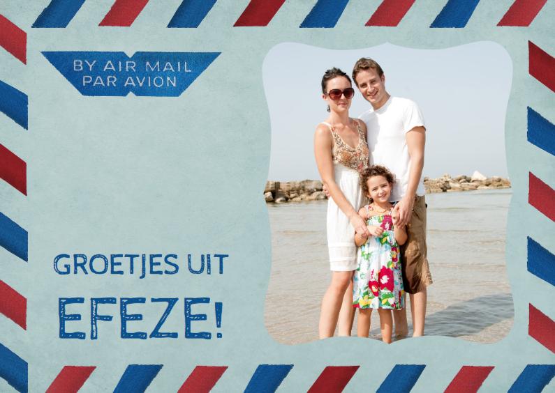 Vakantiekaarten - Vakantiekaart Luchtpost met Foto