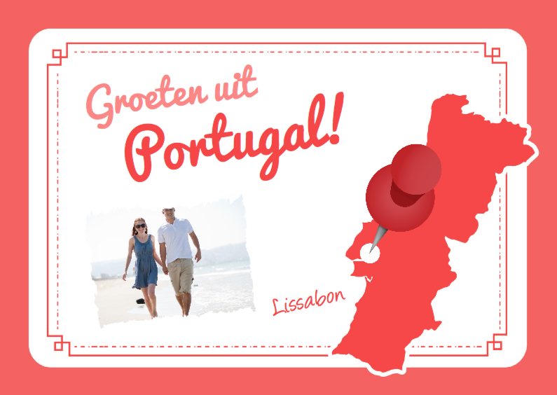 Vakantiekaarten - Vakantiekaart Portugal Landkaart
