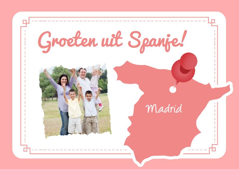 Vakantiekaarten - Vakantiekaart Spanje Aanpasbaar