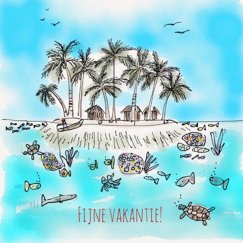 Vakantiekaarten - Vakantiekaart Tropisch Eiland