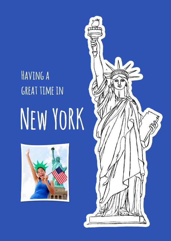 Vakantiekaarten - Vakantiekaart USA - New York - SG